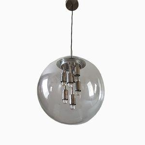 Runde Glas Lampe von Doria Leuchten, 1970er