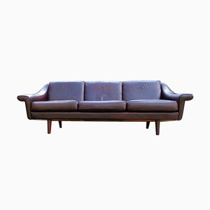 Mid-Century Leather Sofa by Aage Christiansen for Erhardsen & Andersen