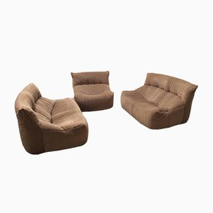Vintage Aralia Living Room Set with 2 Sofas & 1 Armchair by Michel Ducaroy for Ligne Roset