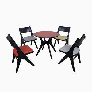 Set de Table avec 4 Chaises Pinguin par Carl Sasse pour Casala, 1950s