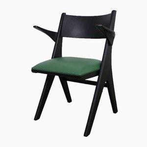 Grüner Sessel Modell Penguin von Carl Sasse für Casala, 1950er