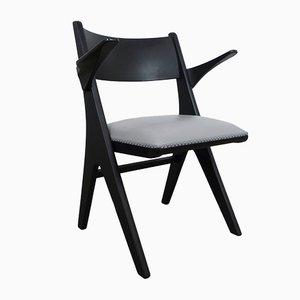 Grauer Sessel Modell Penguin von Carl Sasse für Casala, 1950er