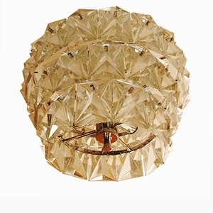 Mid-Century Rock Crystal Ceiling Lamp