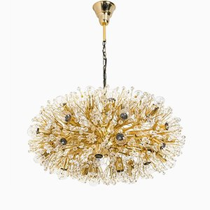 Large Gold-Plated Chandelier by Emil Stejnar for Rupert Nikoll, 1960s