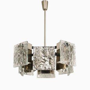 Lámpara colgante de cristal de Murano de Kalmar, años 60
