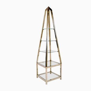 Vintage Single Aluminium Obelisk Shelving Unit
