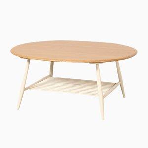 Mesa de centro Oval de Lucian Ercolani para Ercol, años 60