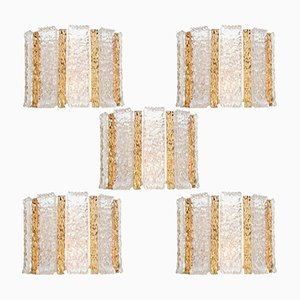 Gold-Plated Wall Sconces from Kalmar, 1960s, Set of 5