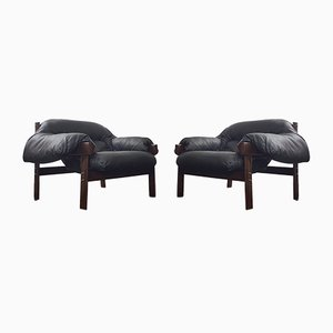 Mid-Century Brazilian Jacaranda Wood Armchairs by Percival Lafer, Set of 2