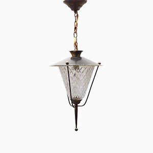 Lámpara colgante de linterna de Maison Lunel, años 50