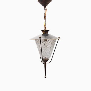 Lantern Pendant from Maison Lunel, 1950s
