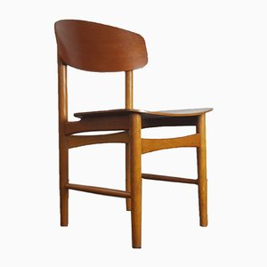 Model 122 Teak & Oak Side Chair by Børge Mogensen for Søborg, 1960s