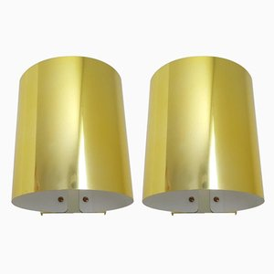 Lámparas de pared modelo 5607 de latón de Ateljé Lyktan. Juego de 2