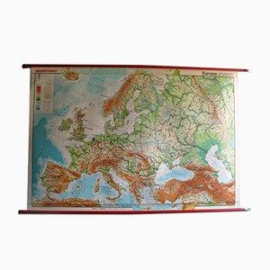 Mapa de Europa vintage grande de Westermann