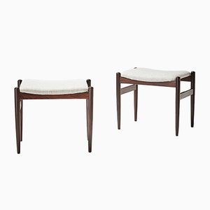 Vintage Rosewood Stools, Set of 2