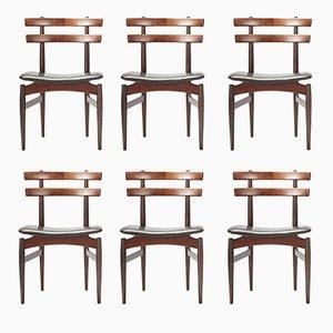 Esszimmerstühle von Poul Hundevad, 1958, 6er Set