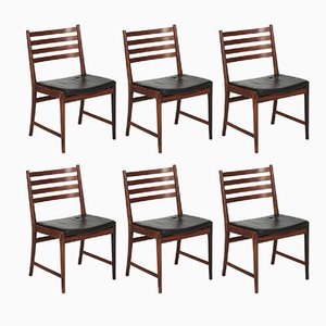 Brazilian Rosewood Dining Chairs by Kai Lyngfeldt Larsen for Søren Willadsen, 1960s, Set of 6