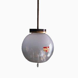 Lampada a sospensione vintage sferica in vetro di Murano di Toni Zuccheri per Venini, Italia