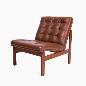 Vintage Leather Lounge Chair from Cado