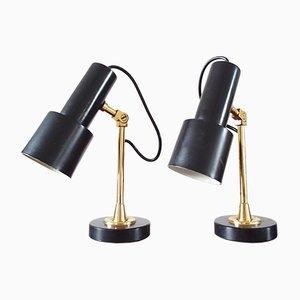 Lampes de Bureau en Laiton de Stilnovo, 1950s, Set de 2