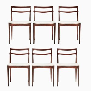 Vintage Rosewood Dining Chairs by H.W. Klein for Christian Linneberg, Set of 6