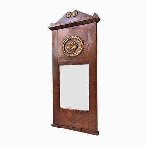 Antiker Dänischer Spiegel mit Mahagoni Rahmen, 1820er