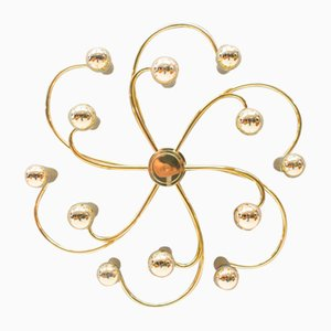 12-Arm Wall or Ceiling Light, 1960s