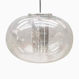 Eisglas Kugel Lampe von Doria Leuchten, 1960er