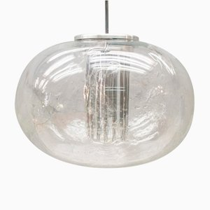 Lampada in vetro smerigliato di Doria Leuchten, anni '60