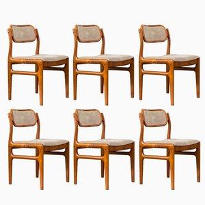 Sedie da pranzo di Johannes Andersen per Uldum Mobelfabrik, anni '60, set di 6