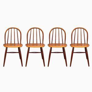 Fanett Chairs by Ilmari Tapiovaara for Edsby Verken, 1959, Set of 4