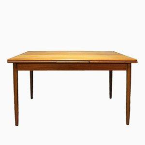 Mesa de comedor de teca con extensiones, años 60
