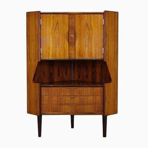 Mid-Century Danish Rosewood Veneered Corner Cabinet from Omann Jun