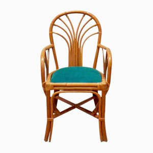 Rattan Armchairs, 1960s, Set of 4