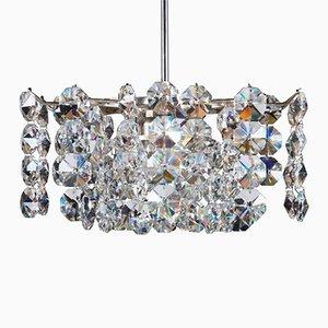 Lámpara de araña austriaca Mid-Century de cristal