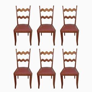 Chaises en ChêneparPaolo Buffa, 1950s, Set de 6