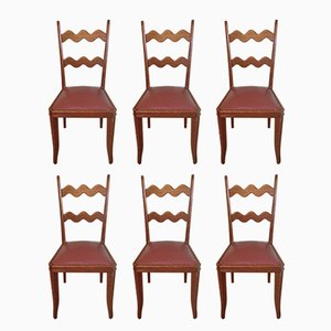 Oak Chairs by Paolo Buffa, 1950s, Set of 6