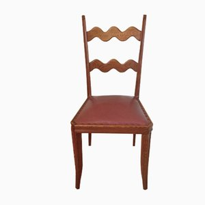 Oak Dining Chairs by Paolo Buffa, 1950s, Set of 6