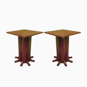 Side Tables in Rosewood Veneer, 1920s, Set of 2