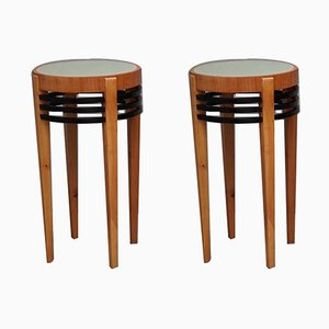 Art Deco Side Tables, 1920s, Set of 2