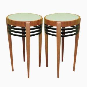 Art Deco Side Tables, 1930s, Set of 2
