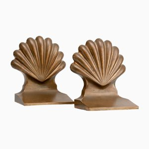 Solid Brass Bookends, 1920s, Set of 2