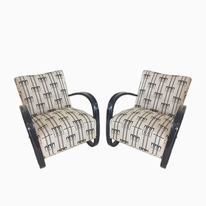 H269 Armchairs by Jindrich Halabala for UP Zavody Brno, 1930s, Set of 2