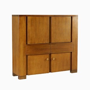 Vintage Torbecchia Walnut Veneered Sideboard by Michelucci for Poltronova