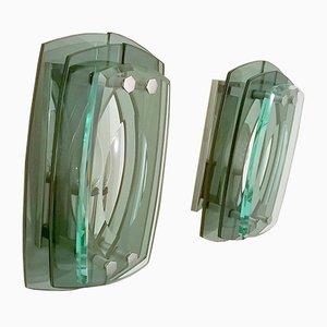 Wandlampen aus Glas von Veca, 1960er, 2er Set