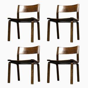 Sedia 4135 Etude di Arne Jacobsen per Fritz Hansen, 1978, set di 4