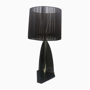 Lampe de Bureau Vintage en Lucite Fumé de Van Teal, 1980s