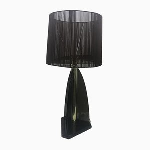 Vintage Smoked Lucite Table Lamp from Van Teal, 1980s