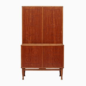 Mid-Century Swedish Krus Cabinet by Yngve Ekstrom for Westbergs Mobler
