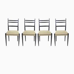 Italienische Esszimmerstühle, 1950er, 4er Set